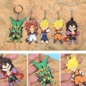 Dragon Ball Z Figures Keychains Pendants 5pcs Set
