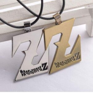 Dragon Ball Z Logo Necklace Pendant Gold Silver