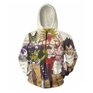 Usual Suspects Dragon Ball Z Villains Wanted Zip-Up Hoodie