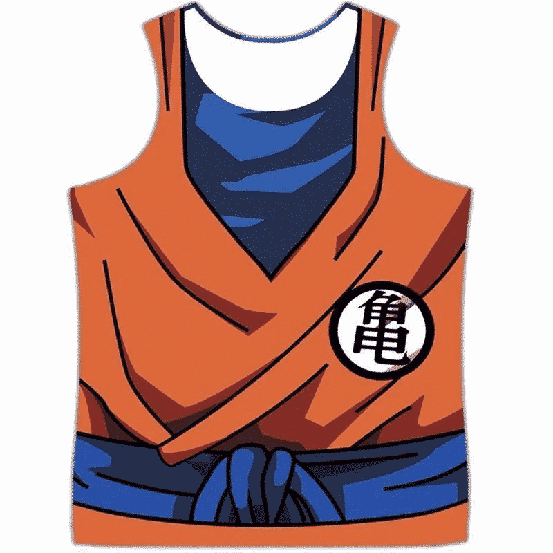 Master Roshi's Disciple Krillin Goku Kame Symbol 3D Tank Top