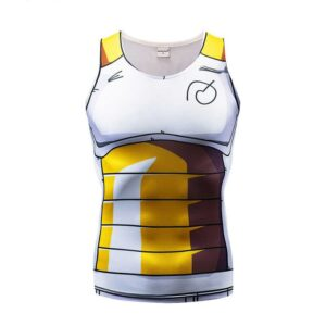 Vegeta Saiyan DBZ Armor Whis Symbol Compression Gym Tank Top