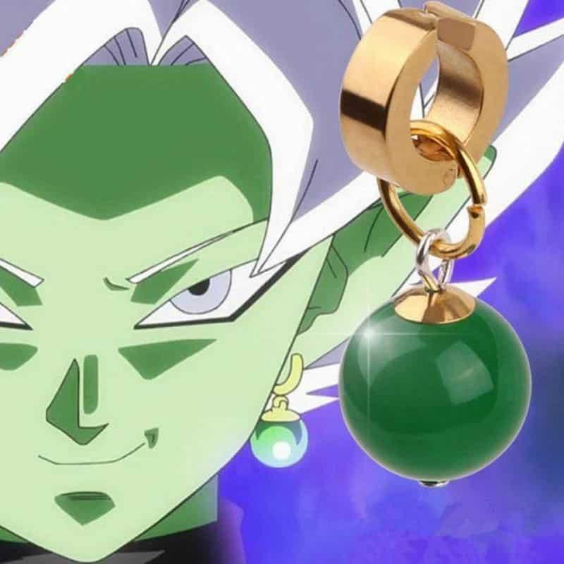 Dragon Ball Supreme Kais Potara Goku Black Fusion Zamasu Cosplay Earrings