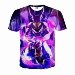 DBZ Mighty Destruction God Beerus Egyptian Cat Sport Design T-Shirt