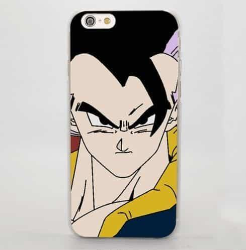 Gogeta DBZ Normal Vegeta Goku Fusion Face iPhone 5 6 7 Plus Case