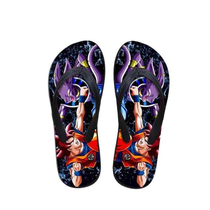 Go Symbol Kanji Goku Under the Rain Beach Sandals Flip