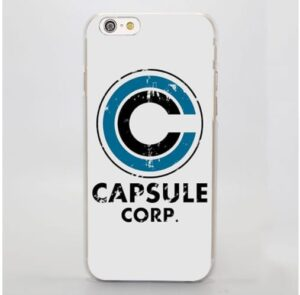 Dragon Ball Capsule Corp Rusty Logo White Version Cool iPhone 4 5 6 7 8 Plus X Case