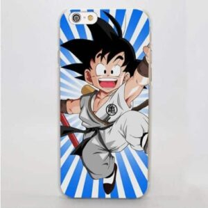 Dragon Ball Goku White Martial Art Gi Unique Design iPhone 4 5 6 7 8 Plus X Case