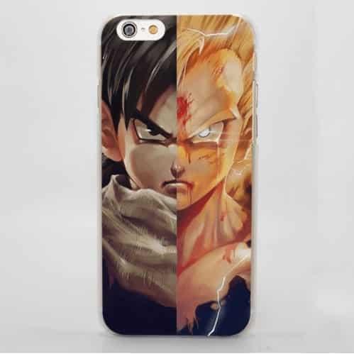 Dragon Ball Gohan Kid Saiyan Portraits Realistic Arts iPhone 4 5 6 7 8 Plus X Case