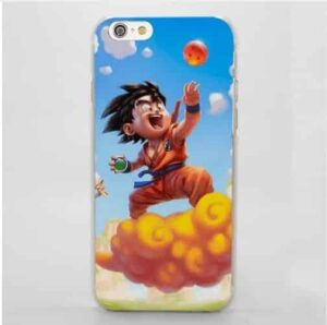 Dragon Ball Goku Kid Ride Flying Nimbus Cute Cartoon Style iPhone 4 5 6 7 8 Plus X Case