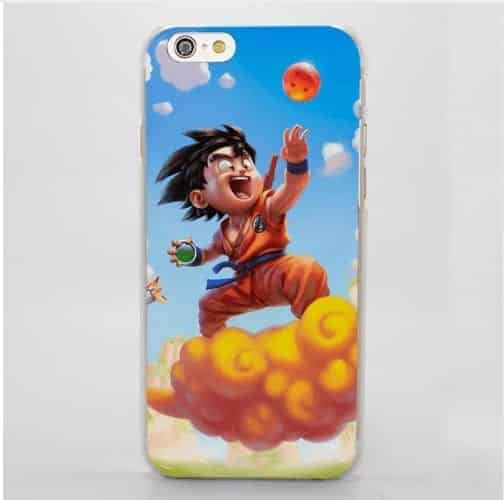 Dragon Ball Goku Kid Ride Flying Nimbus Cute Cartoon Style iPhone 4 5 6 7 8 Plus X Case