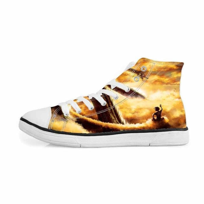 Shenron Dragon Flying Nimbus Goku Cool Sneakers Converse Shoes