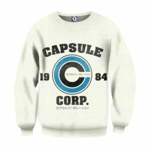 Dragon Ball Capsule Corp Logo Industrial Style Sweatshirt