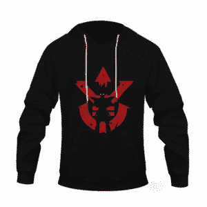 Dragon Ball Z Vegeta Shadow Cool Red Vegeta Symbol Hoodie