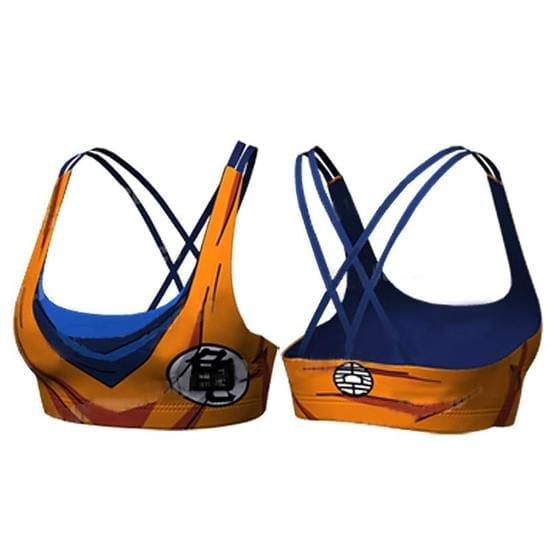 Goku Orange Costume Cosplay Sexy Gym Workout Compression Sports Bras