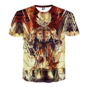 Powerful Goku Super Saiyan 2 Transformation SSJ2 T-shirt