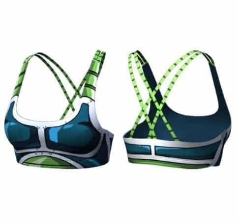 DBZ Bardock Cosplay Gym Activewear Compression Sports Bras