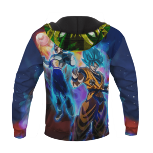 Dragon Ball Super Broly Super Saiyan Blue Goku Vegeta Hoodie