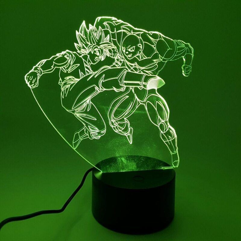 Goku 2 Super Saiyan vs Jiren Intense Fight Color Changing 3D Illusion Acrylic Lamp