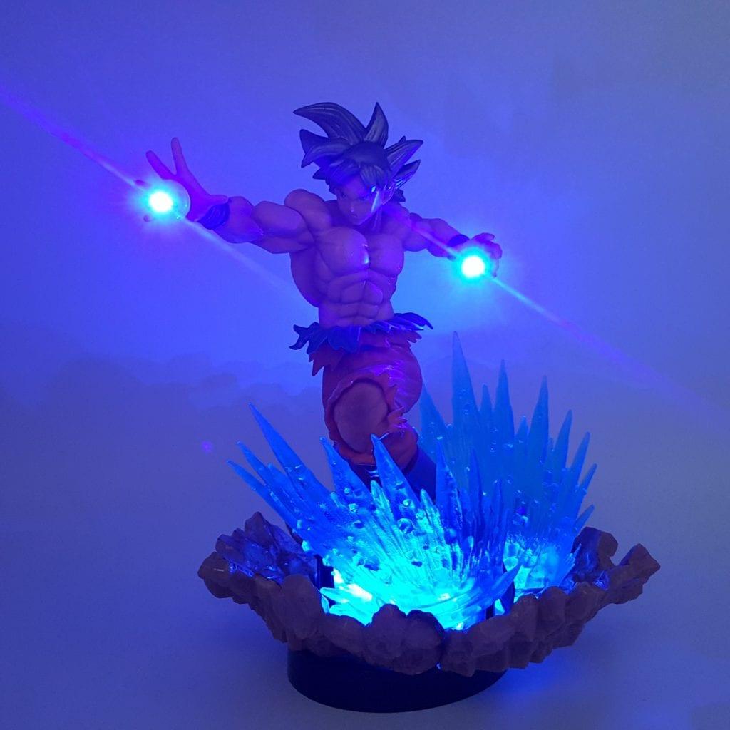 DBZ Son Goku Kaioken Ultra Instinct Blue Aura DIY 3D LED Light Lamp
