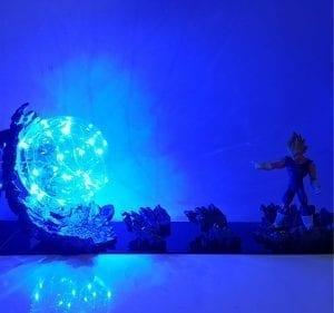 Vegeta Super Saiyan Big Bang Attack Blue Flash Ball DIY 3D LED Light Lamp