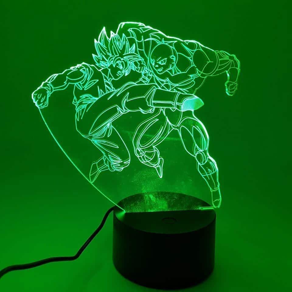 Goku 2 Super Saiyan vs Jiren Intense Fight Color Changing 3D Illusion Acrylic Lamp