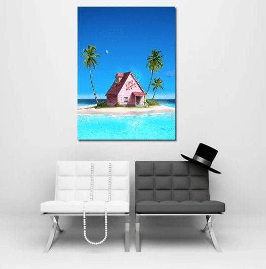 1pc DBZ Master Roshi's Kame House Summer Wall Art Decor