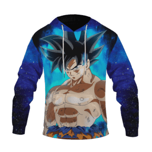 Dragon Ball Z Son Goku Ultra Instinct With Blue Aura Hoodie