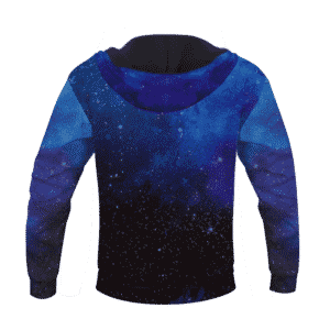 Dragon Ball Z Son Goku Ultra Instinct With Blue Aura Hoodie Back