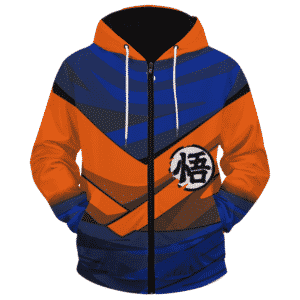Dragon Ball Z SSJ1 Son Goku Inspired Cosplay Zip Up Hoodie