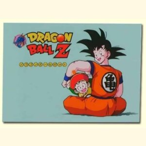 Dragon Ball Z Classic Son Goku And Kid Gohan Blue 1pc Canvas