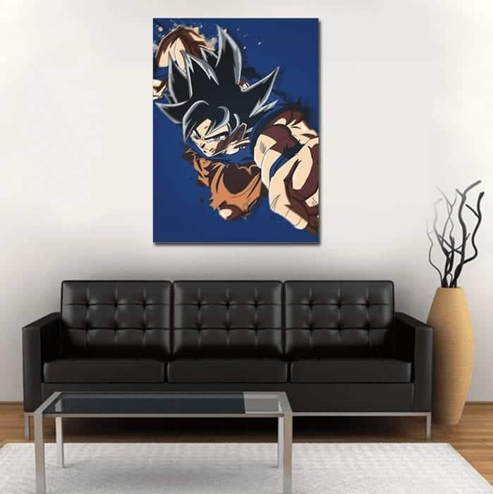 Goku Ultra Instinct Powerful Punch 1pc Wall Art Canvas Print