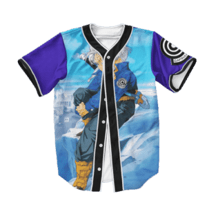 Dragon Ball Z Future Trunks Far Cool Blue Baseball Jersey