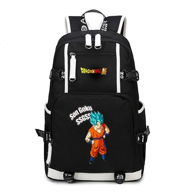 Dragon Ball Super SSGSS Son Goku Black Backpack Bag