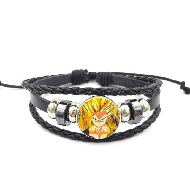 Fierce Super Saiyan Gohan Leather Braided Bracelet