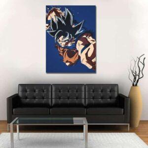 Goku Ultra Instinct Powerful Punch 1pc Wall Art Canvas Print