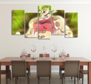 DBS Kale Powerful Female Asymmetrical 5pcs Wall Art Canvas Print