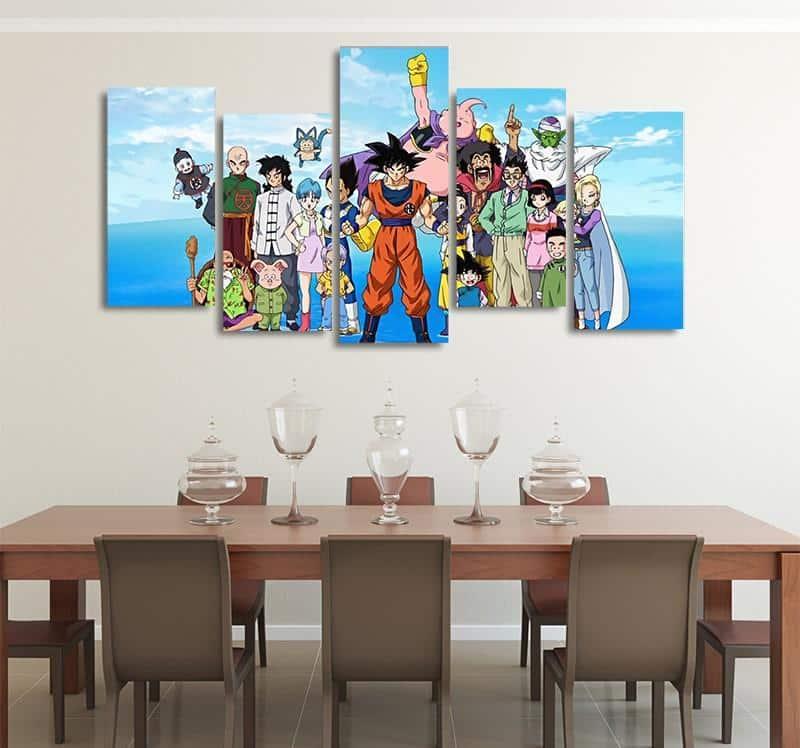 DBS Happy Family Photo Asymmetrical 5pcs Wall Art Canvas Print