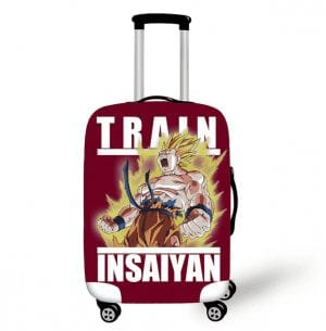 Son Goku Power Up Train In Saiyan Maroon Luggage Cover