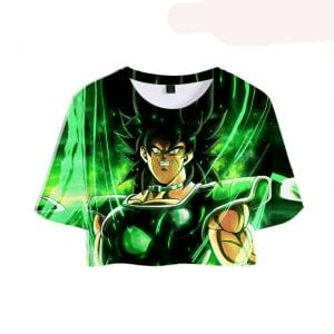 Dragon Ball Z Terrifying Broly Staring at You 3D Printed Crop Top