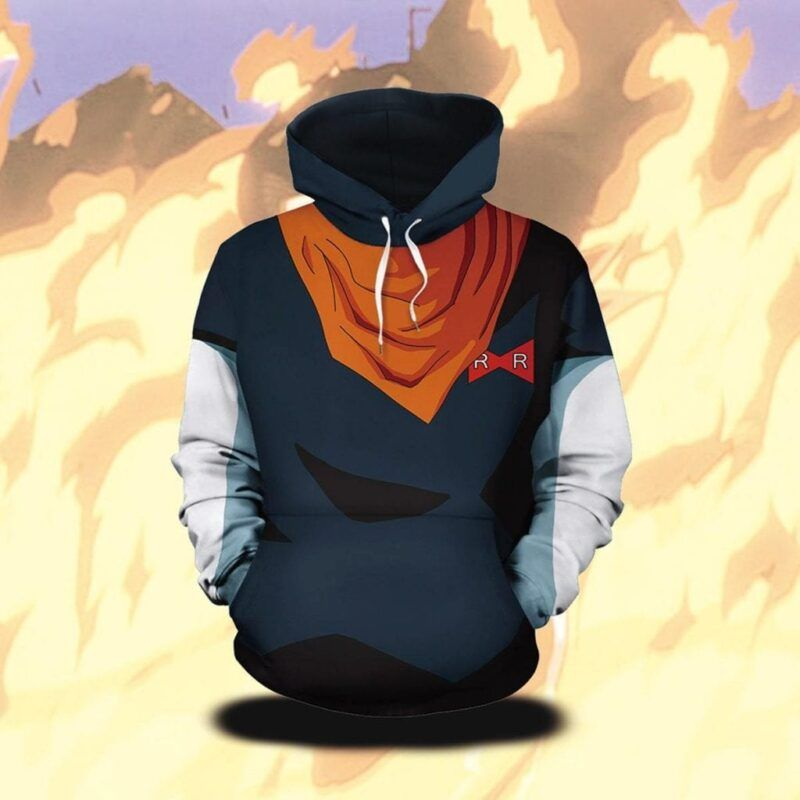 Dragon Ball Z Android 17 Awesome Cosplay Black Stylish Hoodie
