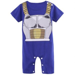 DBZ Vegeta's Armor Cosplay Short Sleeve Blue Baby Jumpsuit