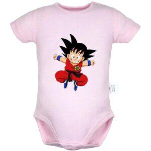 DBZ Short Sleeve Jumping Smiling Face Kid Goku Baby Onesie