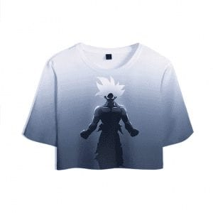 Dragon Ball Z Cool Son Goku Super Saiyan White Stylish Crop Top