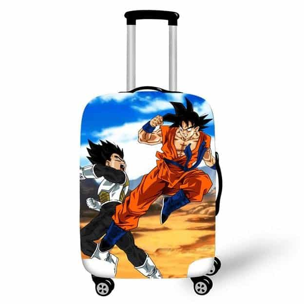 Intense Fighting Son Goku And Vegeta Suitcase Cover