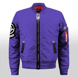 Dragon Ball Z Futuristic Capsule Inc Blue Varsity Jacket