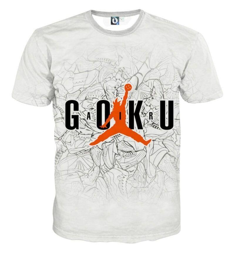 Dragon Ball Goku Jump Man Jordan Symbol Fashion T-shirt