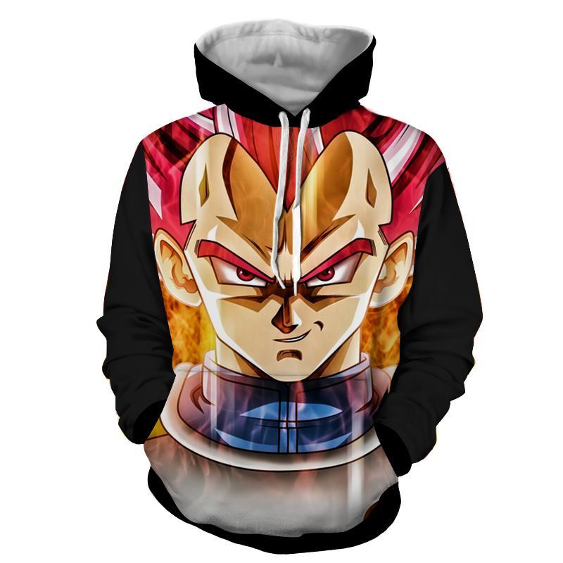 Dragon Ball Vegeta Super Saiyan Rose Portrait Cool Hoodie