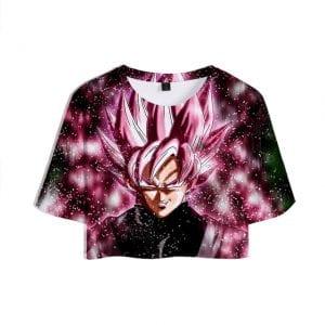 Dragon Ball Z Goku Black Super Saiyan Rosé Stylish Crop Top