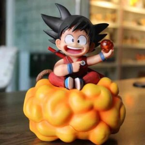DBZ Happy Kid Goku Holding 1 Dragon Ball Action Figure