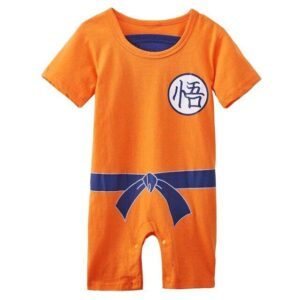 Dragon Ball Z Son Goku's Kanji Cosplay Baby Jumpsuit